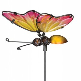 Plant Pick Pink & Yellow Butterfly