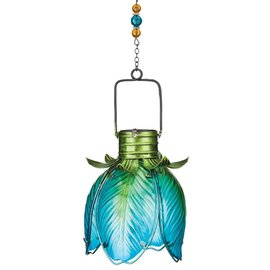 Solar Flower Lantern Blue Iris
