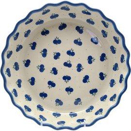 Ceramika Artystyczna Deep Pie Plate Double Blueberry