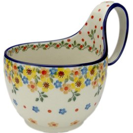 Ceramika Artystyczna Soup Cup April Flowers