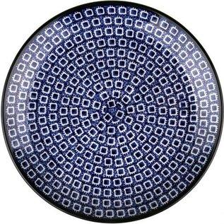 Ceramika Artystyczna Dinner Plate Blue Cubix
