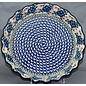 Ceramika Artystyczna Deep Pie Plate Apple Blossom Blue