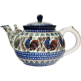 Ceramika Artystyczna Teapot Size 4 Rooster (Chanticleer) Signature