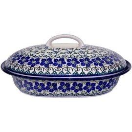 Ceramika Artystyczna Oval Covered Baker Size 2 Charlotte's Web