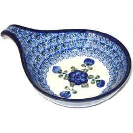 Ceramika Artystyczna Spoon Rest Size 2 Blue Rose