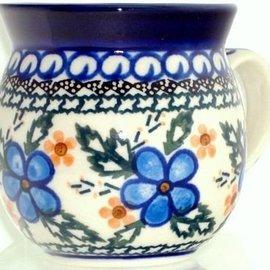 Ceramika Artystyczna Bubble Cup Medium Apple Blossom Blue