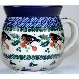Ceramika Artystyczna Bubble Cup Medium Holiday Robin
