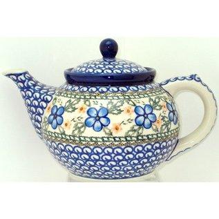 Ceramika Artystyczna Teapot Size 3 Apple Blossom Blue