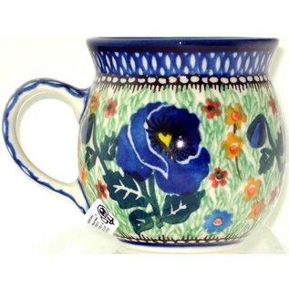 Ceramika Artystyczna Bubble Cup Small Indigo Poppy Signature