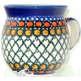 Ceramika Artystyczna Bubble Cup Small Geometric Amber Signature