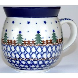 Ceramika Artystyczna Bubble Cup Medium Starry Night Green