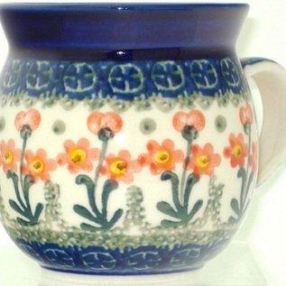 Ceramika Artystyczna Bubble Cup Medium Poppies Orange