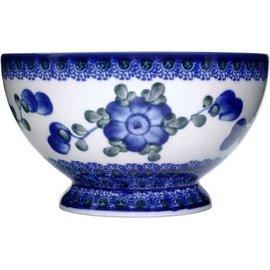 Ceramika Artystyczna Pedestal Bowl Size 1 Blue Rose