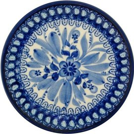 Ceramika Artystyczna Bread & Butter Plate Blue on Blue Signature
