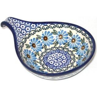 Ceramika Artystyczna Spoon Rest Size 2 Prairie Daisies