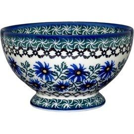 Ceramika Artystyczna Pedestal Bowl Size 1 Periwinkle