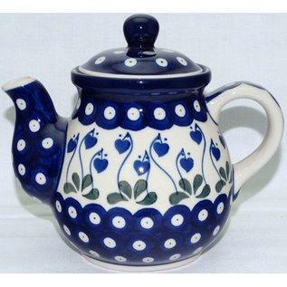 Ceramika Artystyczna Bedtime Teapot Size 1 Royal Hanging Hearts