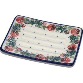 Ceramika Artystyczna Rectangular Soap Dish Vintage Floral