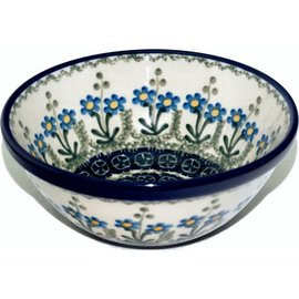 Ceramika Artystyczna Kitchen Bowl Size 2 Poppies Blue