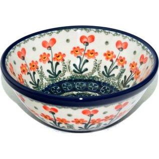 Ceramika Artystyczna Kitchen Bowl Size 2 Poppies Orange