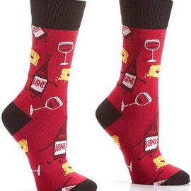 Sox Womens Wine & Cheese Size: 6-10