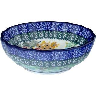 Ceramika Artystyczna Scalloped Bowl Size 1 Antoinette Signature