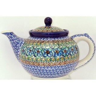 Ceramika Artystyczna Teapot Size 3 Cottage Green Signature
