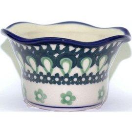 Ceramika Artystyczna Votive Holder Green Dent