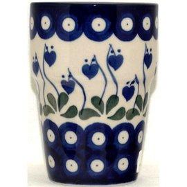 Ceramika Artystyczna Tumbler Small Royal Hanging Hearts