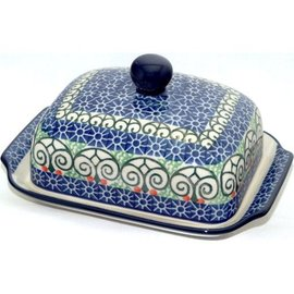 Ceramika Artystyczna Domed Butter Dish Stained Glass
