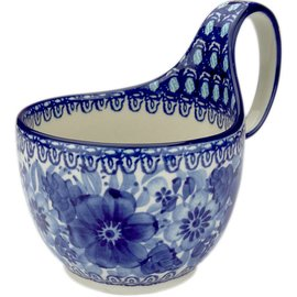 Ceramika Artystyczna Soup Cup Blue on Blue Signature