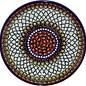 Ceramika Artystyczna Luncheon Plate Geometric Amber Signature