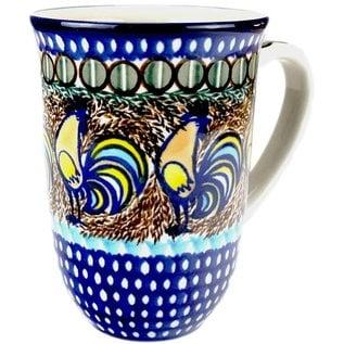 Ceramika Artystyczna Bistro Cup Sienna Rooster Signature