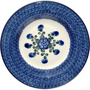 Ceramika Artystyczna Pasta Bowl Blue Rose