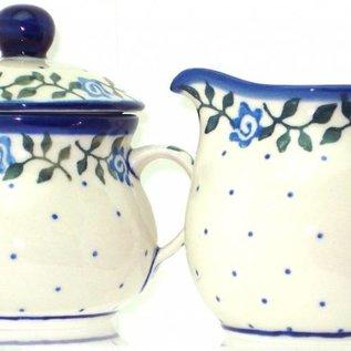 Ceramika Artystyczna Cream & Sugar Set Antique Rose