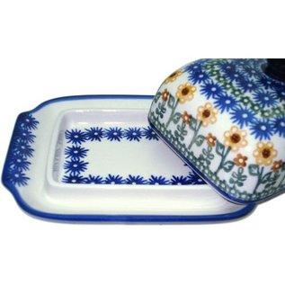 Ceramika Artystyczna Domed Butter Dish Summer Sunflower