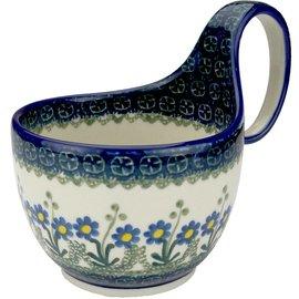 Ceramika Artystyczna Soup Cup Poppies Blue