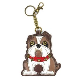 Coin Purse Key Fob Bulldog