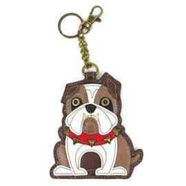 Coin Purse Key Fob Bulldog