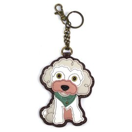 Coin Purse Key Fob Poodle