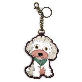 Coin Purse Key Fob Poodle