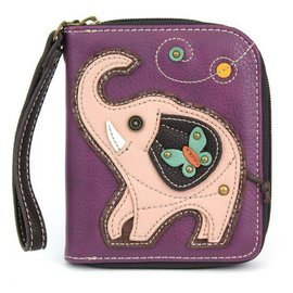 Zip Around Wallet Elephant - Purple