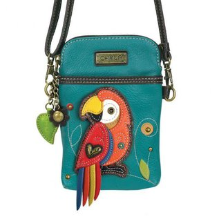 Cell Phone Crossbody Parrot - Turquoise