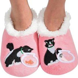 Snoozies Cat & Fishbowl Pink