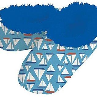 Snoozies Blue Sailboats XL 11/12