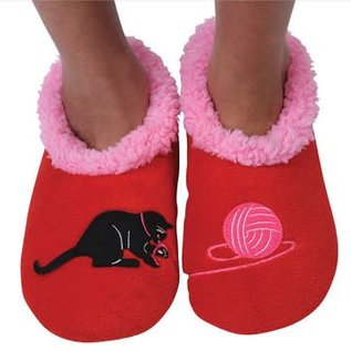 Snoozie Splitz Cat & Yarn Red