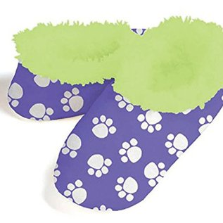 Snoozies Dog Paws Purple