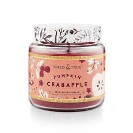 Lg Candle Jar, Pumpkin Crabapple