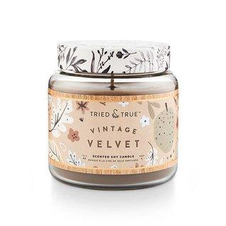 Lg Candle Jar, Vintage Velvet