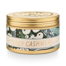 Lg Candle Tin, Cozy Cashmere